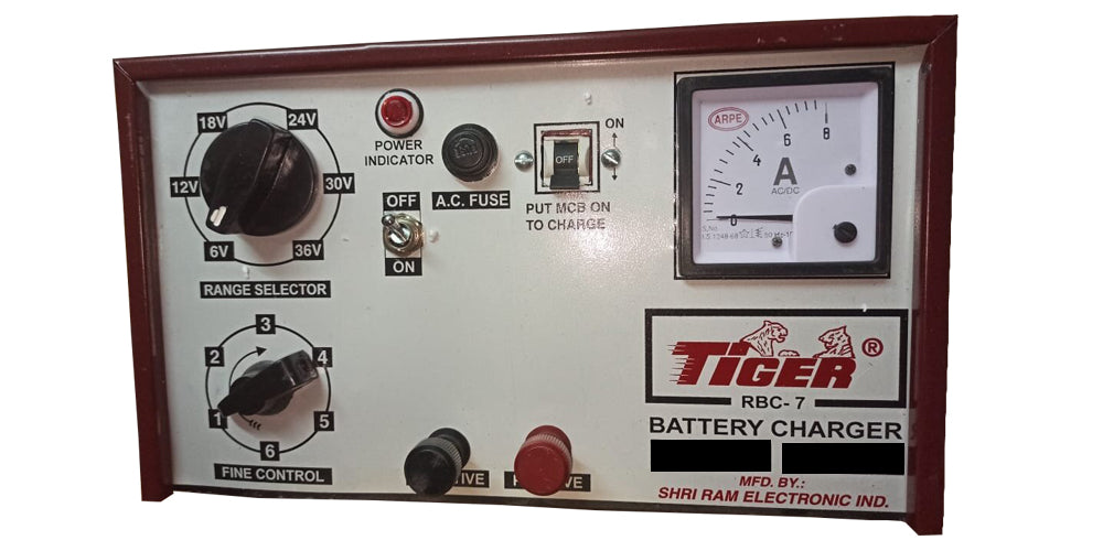 Tiger Battery Charger 36v-6a Half wave Rbc-7