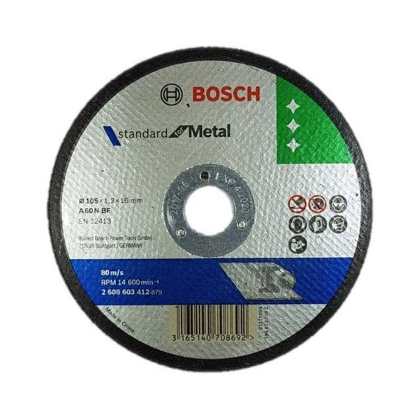 BOSCH CUTTING WHEEL 4INCHX1.2MM CUT OFF WHEEL 105X1.2X16MM