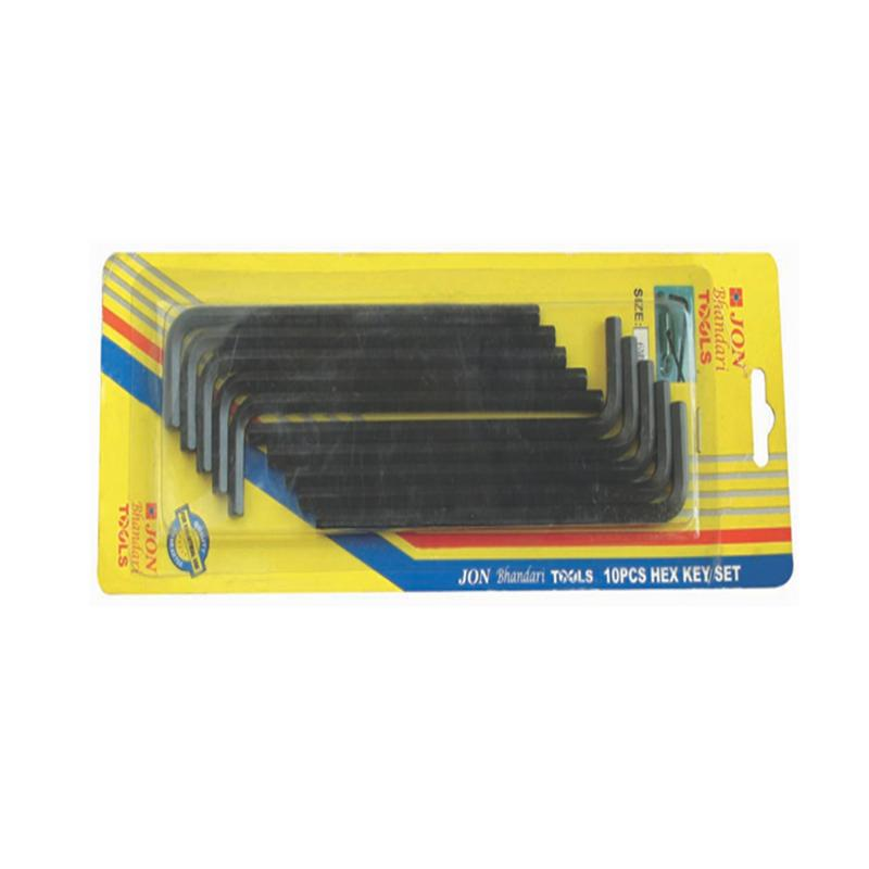 JON BHANDARI HEX KEY 10 PCS SET BLACK H-016