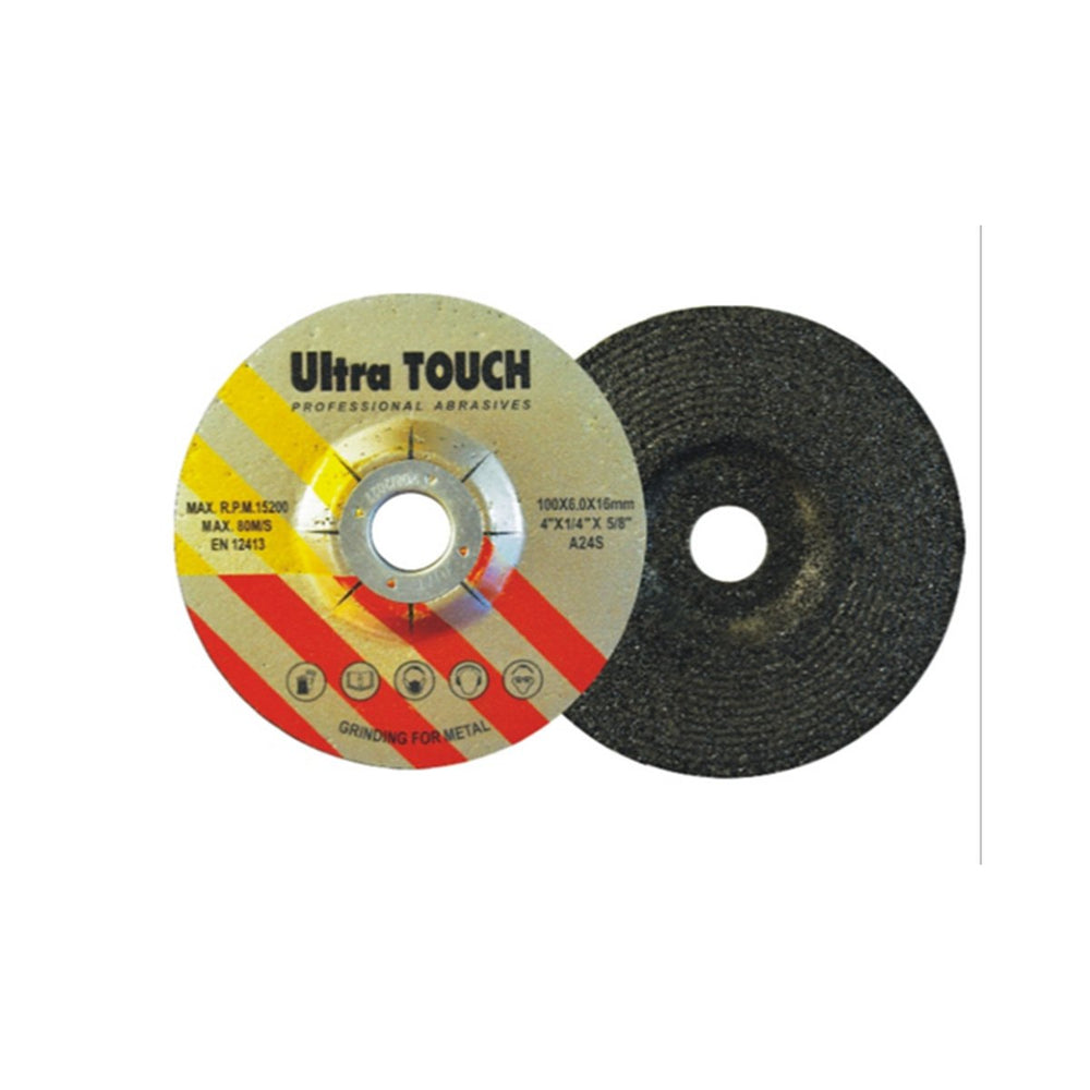ULTRA TOUCH 4INCH GC WHEEL 180 GRIT 100MM BLACK