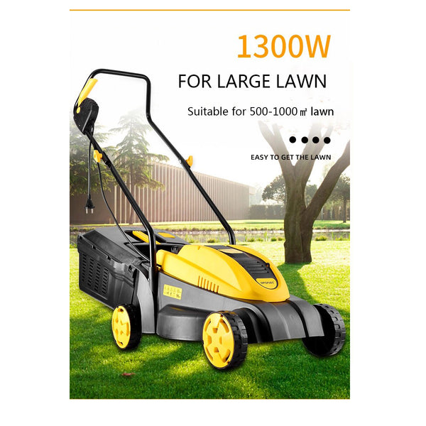 Upspirt 1500W Hand Push Portable Electric Lawn Mower