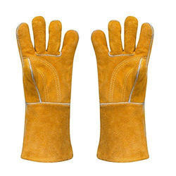 LION YELLOW LEATHER GLOVES
