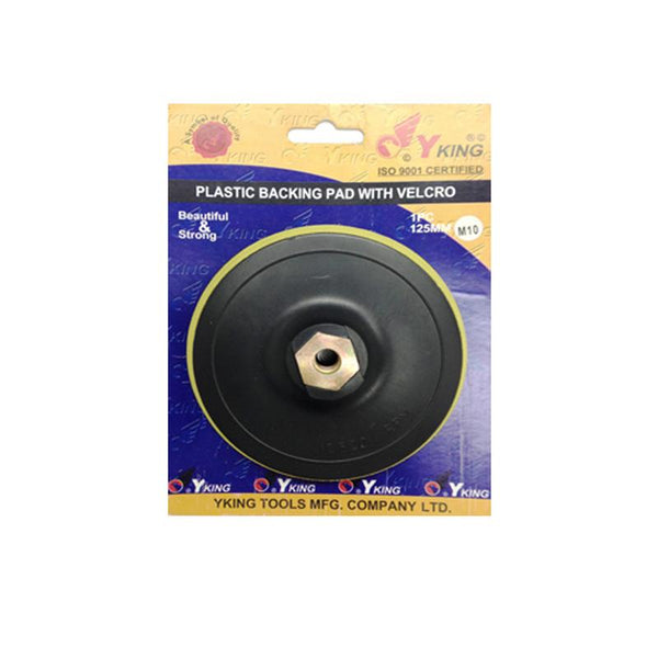 Yking 5 Inch 125mm Velcro Pad M10 Nut y king,   y king Velcro Pad,   y king Velcro Pad for drill,  y king Velcro Pad for sander,   y king Cutting Wheel online price,  y king power tools,  Cutting Wheel y king,  buy y king online price,  y king tools