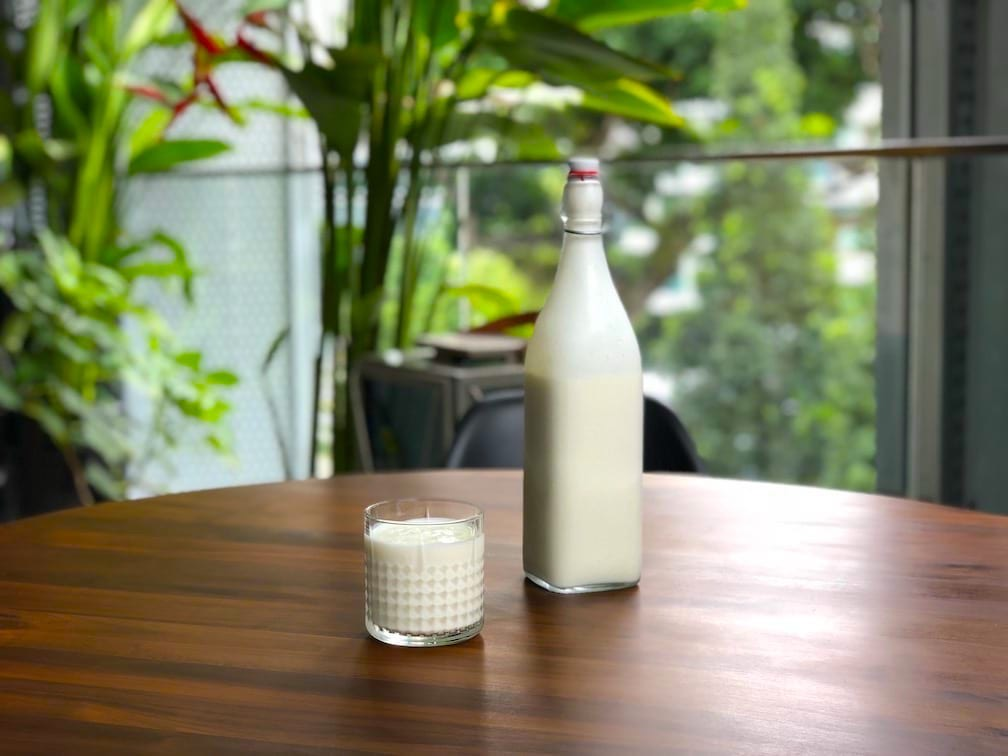Milk kefir finished culturing and ready to drink