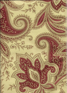 Exquisite Red Paisley Curtains