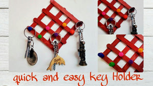 Key Holder Making how to make key holder at home Catchy Crafts #KeyHolder #DIY #Crafts.