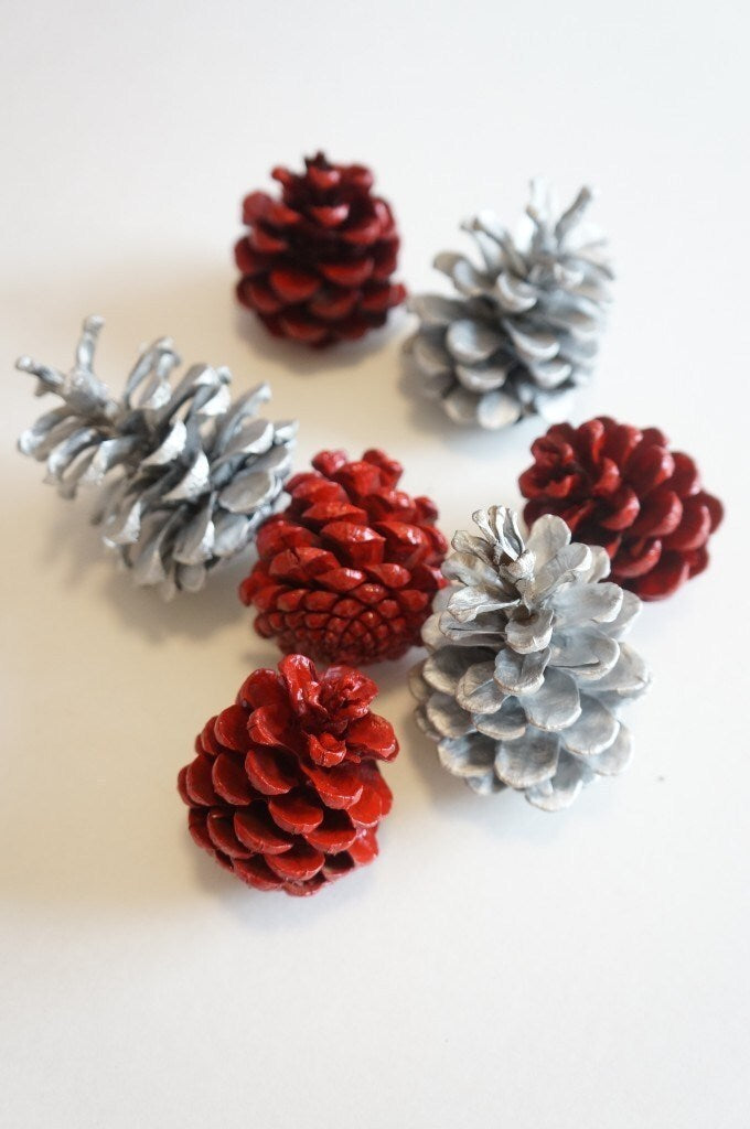 Neutral Pinecone Napkin Rings