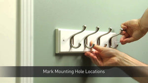 This step-by-step video shows how to level and install a hook rail for coats and hats and what tools you will need to complete the job