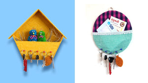 Here is best idea of 3 Key Holder from waste Materials #keyholder #diyprojects REQUIREMENTS : 1.Clothes 2.Cardboard 3.Lace 4.Thumbpins Dear Friends!