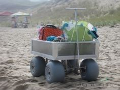 Ideal Beach Wagon With Big Wheels
