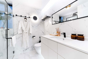 When it comes to designing your bathroom, think beyond how it looks