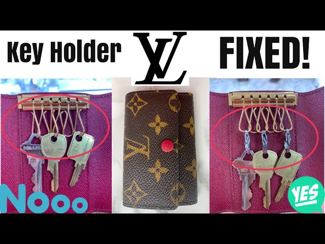 "louisvuittonkeyholder #louisvuitton #lvslg #lvkeychain #lvkeypouch In this video I show a quick Louis Vuitton ""hack"" that makes it easier to use your LV 4 or 6 ..."