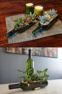 31 Nifty Ways to Repurpose Wine Bottles
