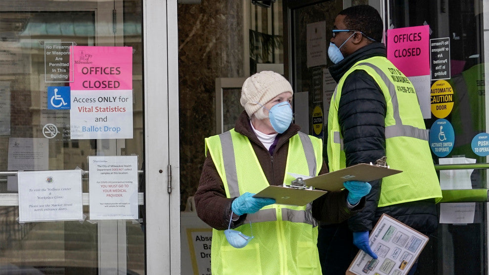 Despite Coronavirus Lockdown, Wisconsin Republicans Insist on an Election that Will Disenfranchise Thousands