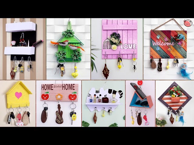 KeyStand #UsefulCraft #BestOutofWaste 13 Beautiful Key Stand Ideas !!! Best Home Useful Craft Making at Home Stay tuned with us for more quality DIY art and ...