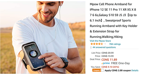 Amazon Canada Pre Black Friday Deals: Save 53% on Mpow Cell Phone Armband with Coupon + 18% on Seiko Men's Stainless Steel Japanese-Automatic Watch with Leather Calfskin Strap + More HOT Offers