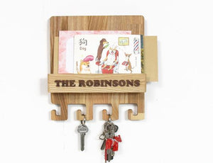 Wall key rack Entryway organizer Mail and key holder for wall Key holder for wall by PromiDesign