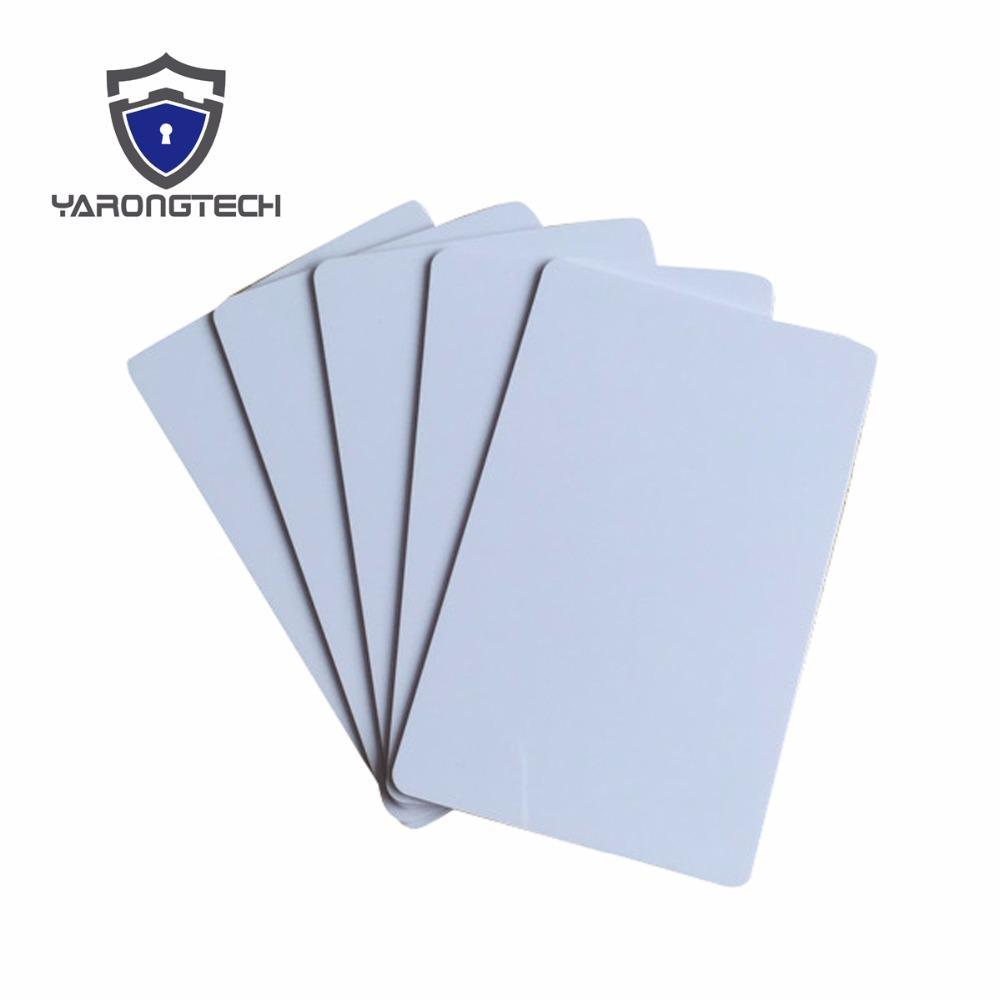 100 Blank Printable Pvc Plastic Photo Id White Credit Card 30Mil Cr80