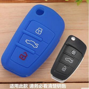 10pcs/lot Silicone car key cover case for Audi A1 A3 A4 A5 A6 A7 A8 Q5 Q7 R8 TT S5 S6 S7 S8 SQ5 RS5 TT key protector key chain