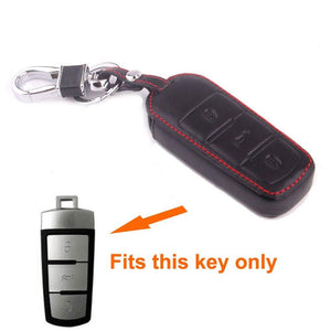 1Pc 3BTS Remote Smart Key Holder Case Fob Car Key Case Shell Bag PU Leather Fit For Volkswagen Passat CC Accessories Car Styling