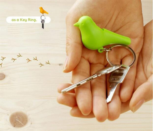 1set Whistling Key chain Rack key Hook Couple bird key Hanger for lovers storage Key Holder housekeeper  valentine's day gift