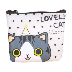 2017 Unique Design Girls Cute Cat Coin Purse Bag Change Pouch Key Holder Female Lowe Price A8