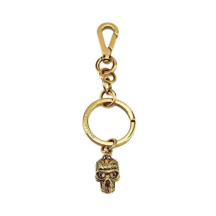 Skull Bag Charm/ Key Ring, Gold