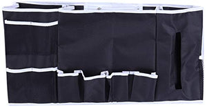 Inspired Home Living Bedside Caddy Organizer - Large 12 Pocket Bed and Couch Hanging Storage - Perfect As Remote, Laptop, Cell Phone, Book and Magazine Holder