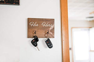 His and Hers Key Holder - Rustic Decor - Entryway Organization