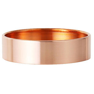 Exttlliy Circular Copper Ring Holder Jewelry Organizer Trays Muti-Functionary Storage Dish with Edge Roll for Key Earring Bracelet (Rose Gold, Large)