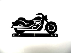 "1/16"" Plastic Fatboy Classic Motorcycle Key Holder"