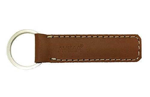 #1 BEST Premium Quality Handcrafted Elegant Classic Casual Durable Stylish Genuine Leather Strap Key Chain Car Key Key Fob with 1 Key Ring - 100% SATISFACTION GUARANTEE (Light Brown)