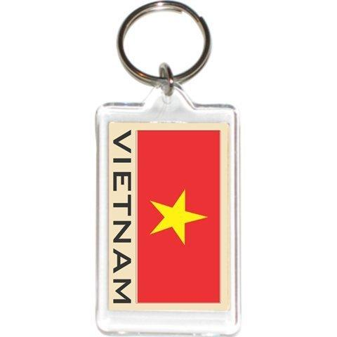 Acrylic Keychains Keyrings Holders - Asia &Amp; Africa Grp 4 (1-Pack, Country: Vietnam)