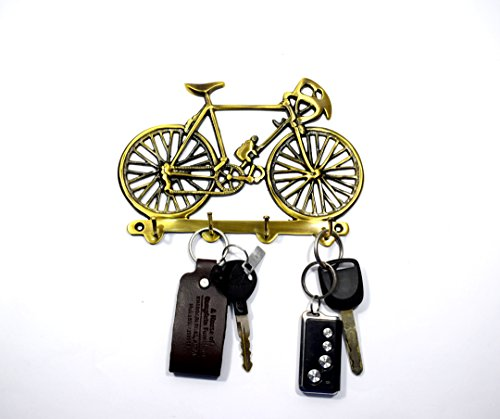 Antique Finish Brass Made Cycle Key Holder Key Hooks Key Stand for Home & Office by-Wigano