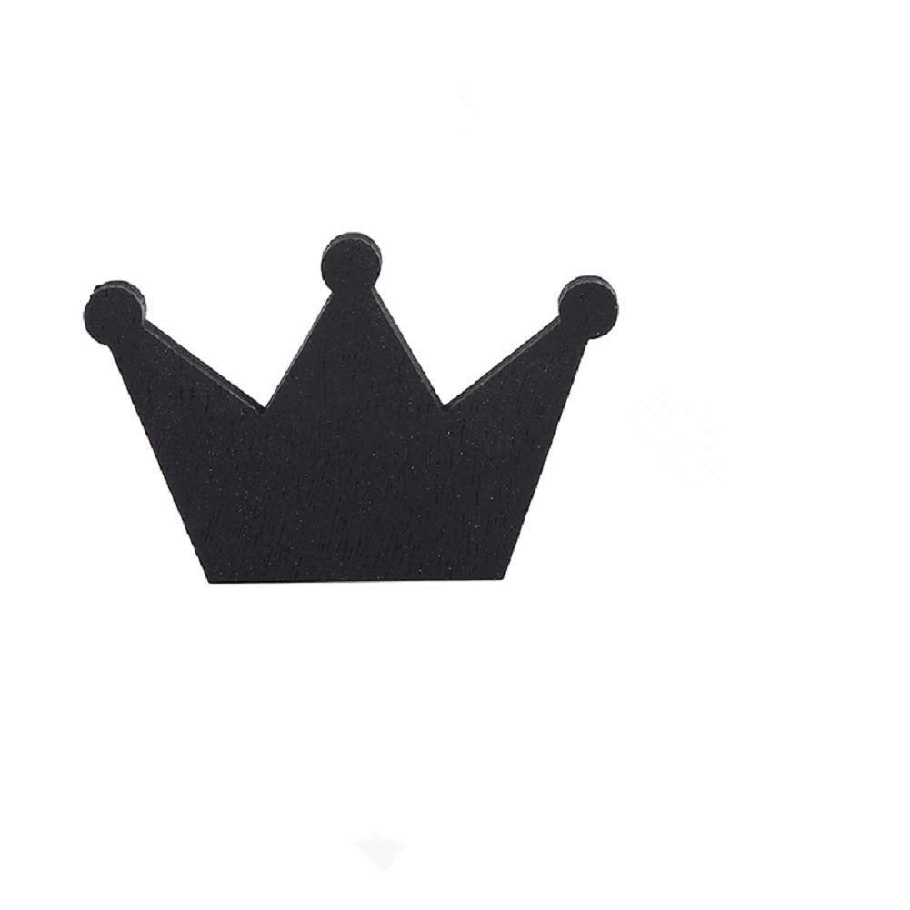 Crown Wall Hook,Wall Hanger Clothes Organizer for Coat Hat Clothing Towel Home Decor Wall Stickers Baby Kids Boys Girls Bedroom Decoration (Black)