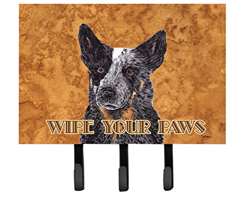 Caroline's Treasures SC9141TH68 Australian Cattle Dog Wipe Your Paws Leash or Key Holder, Large, Multicolor