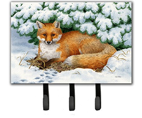 Caroline's Treasures ASA2184TH68 Winter Fox Leash or Key Holder, Large, Multicolor