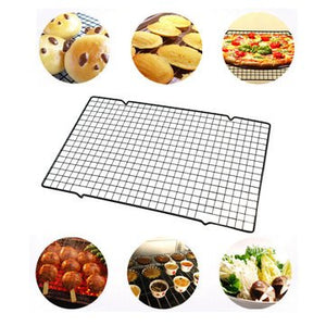 Chilling Wrack - Stainless Steel Wire Grid Cool Rack Bbq Cake Oven Kitchen Baking Tool Cooling Tooln Mat - Temperature Reduction Wheel Caller Stand System - 1PCs