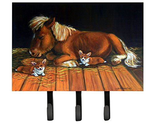 Caroline's Treasures 7323TH68 Corgi Snuggles The Pony Leash or Key Holder, Large, Multicolor