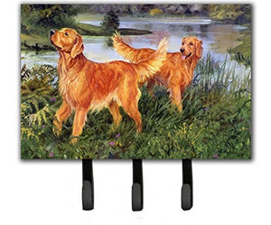 Caroline's Treasures HEH0098TH68 Golden Retrievers Leash or Key Holder, Large, Multicolor