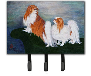 Caroline's Treasures MH1059TH68 Japanese Chin Standing on My Tail Leash or Key Holder, Large, Multicolor