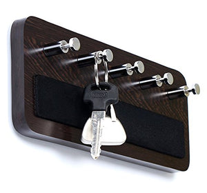 Bluewud Skywood Wall Mounted Key Holder/Key Rack Hooks (Wenge, 5 Keys, Big)