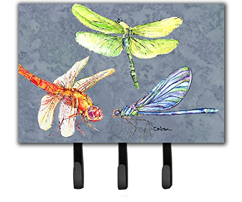 Caroline's Treasures 8878TH68 Dragonfly Times Three Leash or Key Holder, Large, Multicolor