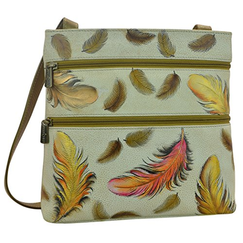 Anuschka Women's Hand Painted Compact Crossbody Travel Organizer