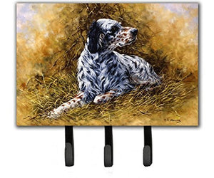 Caroline's Treasures HMHE0007TH68 English Setter by Michael Herring Leash or Key Holder, Large, Multicolor