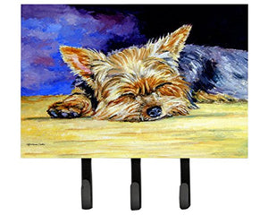 Caroline's Treasures 7357TH68 Yorkie Taking A Nap Leash or Key Holder, Large, Multicolor
