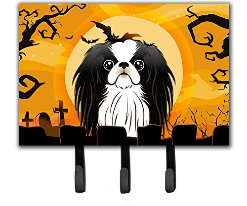 Caroline's Treasures BB1788TH68 Halloween Japanese Chin Leash or Key Holder, Large, Multicolor