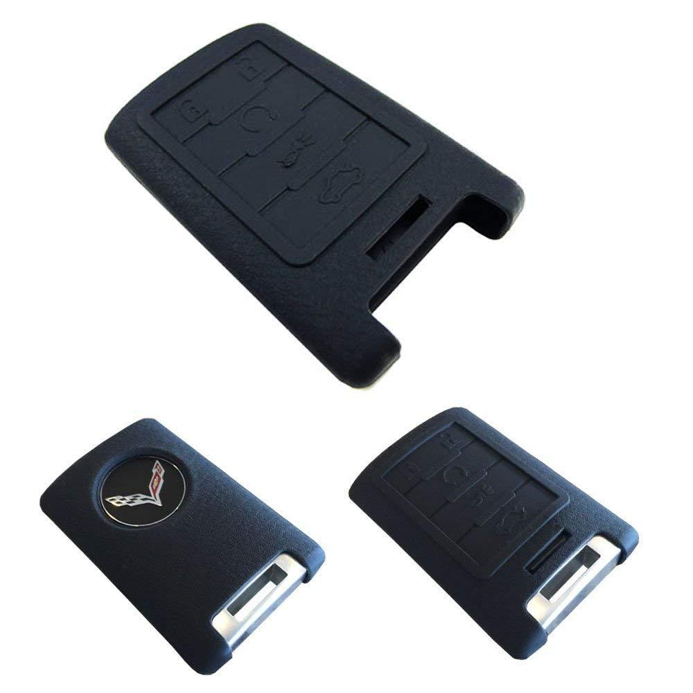 Soft Silicone Remote Smart Key Holder Fob For Cadillac Escalade ATS CTS DTS XTS SRX or Chevy C7 Corvette, etc