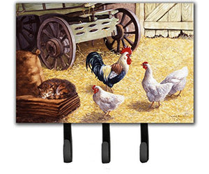 Caroline's Treasures Rooster and Hens Chickens in The Barn Leash or Key Holder BDBA0339TH68, Triple
