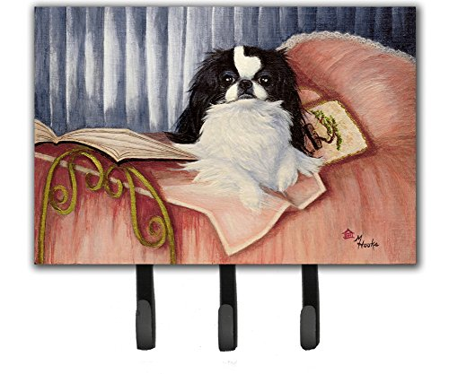 Caroline's Treasures MH1058TH68 Japanese Chin Reading in Bed Leash or Key Holder, Large, Multicolor